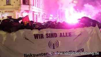 Verbotene Internet-Plattform: Ausschreitungen bei Indymedia-Demo in Leipzig
