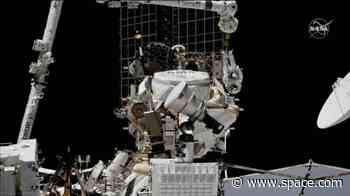 Astronauts complete tricky spacewalk repair of space station's $2 billion antimatter detector