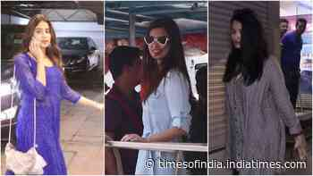 From Aishwarya Rai Bachchan to Janhvi Kapoor, Bollywood divas get spotted in style at Mumbai