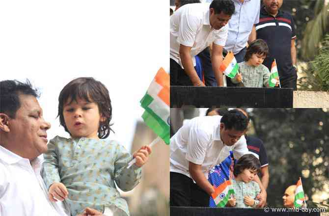 Inside Pictures: Taimur Ali Khan looks cute as a button as he celebrates Republic Day at home