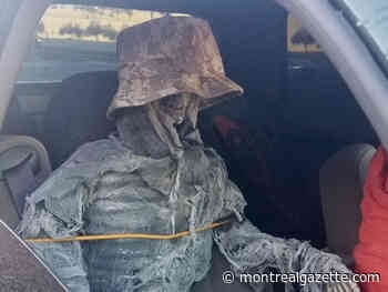 While you were sleeping: Man caught driving skeleton in carpool lane