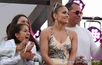 Jennifer Lopez & Alex Rodriguez Bring Their Kids to Pegasus World Cup Championship!