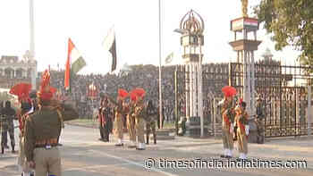 Watch: Beating the Retreat ceremony enthralls audience at Attari-Wagah border on R-Day