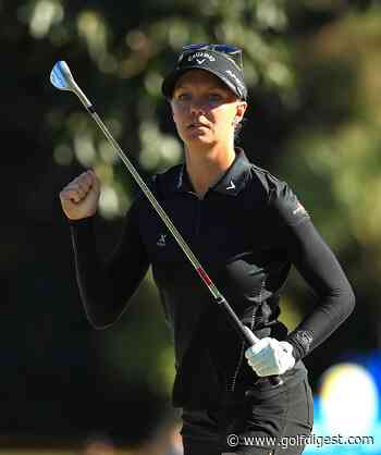 Madelene Sagstrom hangs on during up-and-down Sunday to win her first LPGA title
