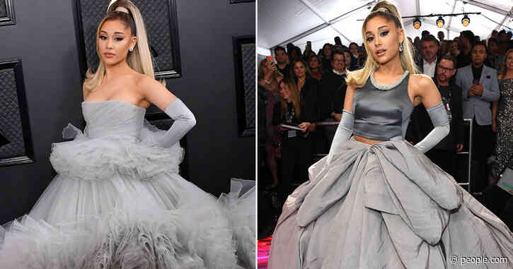 Ariana Grande Changes Dresses Halfway Through the 2020 Grammys Red Carpet: 'I Couldn't Decide!'