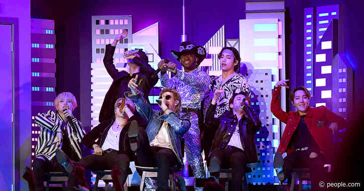 Lil Nas X Joined by BTS, Diplo and the Real Nas in 'Old Town Road' Grammys Medley Performance