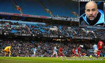 Man City manager Guardiola calls on home support for derby against Manchester Utd
