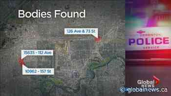 3 bodies found in Edmonton over 9 hours