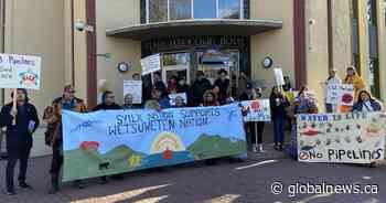 Penticton Indian Band stages protest in support of Wet'suwet'en