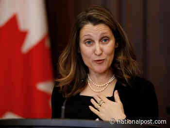 Freeland calls for ratifying new NAFTA deal 'without undue delay' as Liberals seek early political victory
