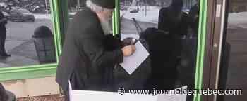 Un accidenté de la route fait la grève de la faim devant les bureaux de la SAAQ
