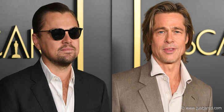 Leonardo DiCaprio & Brad Pitt Step Out For Oscars Nominee Luncheon