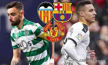 Barcelona 'confident of signing Sporting Lisbon's Bruno Fernandes'