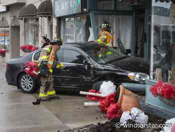 Car crashes into vintage shops in Pillette Village