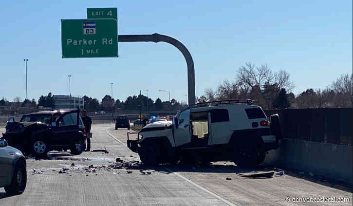 Multi-Vehicle Crash Shuts Down Southbound I-225 From 6th Avenue To Iliff