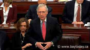 AP source: McConnell says he can't yet block new witnesses