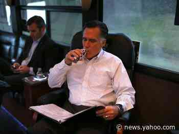 Mitt Romney violated Senate rules by drinking chocolate milk out of a bottle during the impeachment trial