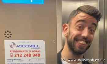 Bruno Fernandes all smiles as he flies to Manchester ahead of medical at Old Trafford