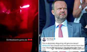 Piers Morgan leads horror at Manchester United supporters' attack on Ed Woodward's mansion