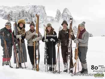 Show di sci retrò del gruppo nostalgico Alpe di Siusi e delle scuole di sci Alpe - Dolomiti.it