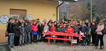 Gressan: La panchina rossa di Bellotto e Niéroz per smuovere le coscenze contro la violenza sulle donne - Valledaostaglocal.it