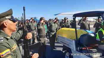 Calle de honor a policía muerto en ataque a bala en Turbaco - El Heraldo (Colombia)