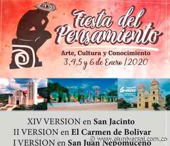 Desde hoy empieza la Fiesta del Pensamiento en San Jacinto - El Universal - Colombia