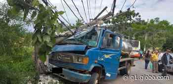 Idosa fica ferida ao ser atropelada por caminhão em Paty do Alferes - G1