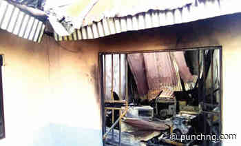 Fire guts family house in Yenagoa - The Punch