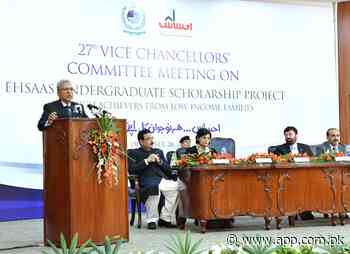 Discover youth's potential through education, health & jobs: President Alvi - Associated Press of Pakistan
