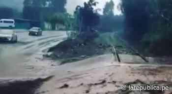 Huaico afectó el kilómetro 51 de la Carretera Central en Cocachacra - LaRepública.pe