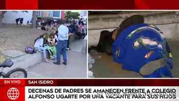 Padres de familia se amanecieron para conseguir vacantes en colegio Alfonso Ugarte - América Televisión