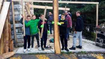 La capanna del presepe? A San Giovanni Ilarione la costruiscono i ragazzi del catechismo - L'Arena