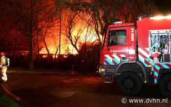 Uitslaande brand in boerderij Tolweg Appingedam