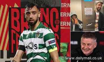 Bruno Fernandes boards flight to Manchester to complete his transfer to Man United