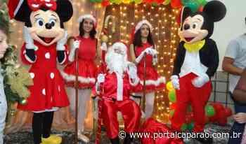 Crianças recebem Papai Noel de braços abertos no clube UBA Manhuaçu - Portal Caparaó