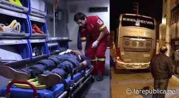 Panamericana Norte: turistas heridos tras asalto a bus interprovincial que regresaba a Lima - LaRepública.pe