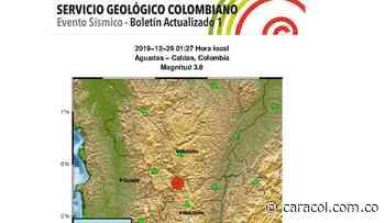 Sismo de magnitud 3.8 con epicentro en Aguadas - Caracol Radio
