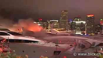 Luxusyacht von Sänger Marc Anthony brennt ab - BLICK.CH