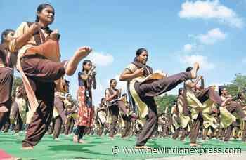 Vijayawada girls showcase skills post martial arts workshop - The New Indian Express