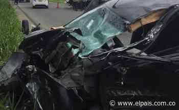 Jugador caleño se habría accidentado en la Avenida Cañasgordas - El País – Cali
