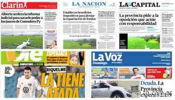 El milagroso aterrizaje de un avión en un maizal copó las tapas de los diarios argentinos - TN - Todo Noticias