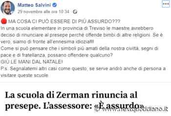 Matteo Salvini e la bufala del presepe vietato a Mogliano Veneto - next