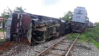 Vagão de trem descarrilha e tomba em Itapipoca, no Ceará - G1