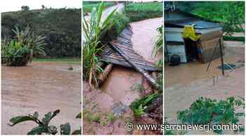 Chuva forte alaga plantações e comunidades rurais em Sumidouro - Serra News