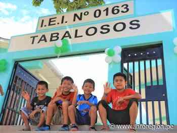 San Martín: Inauguran cuatro locales escolares del corredor Tabalosos - INFOREGION
