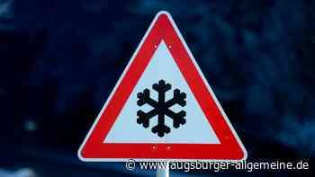 Schneeglätte: Auto kommt von der Fahrbahn ab - Augsburger Allgemeine