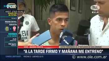 Las declaraciones de Uvita Fernández tras la revisión médica en San Lorenzo - Olé