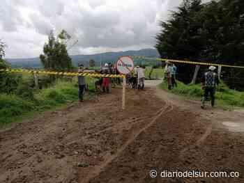 Protestan por mal estado vial en Guachucal - Diario del Sur