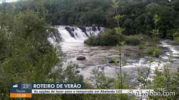 Cachoeira em Abelardo Luz, no Oeste de SC, é opção de passeio para moradores e turistas no verão - G1